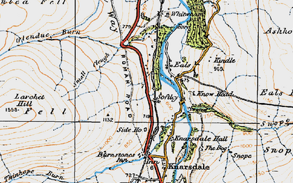 Old map of Ashholme Common in 1925