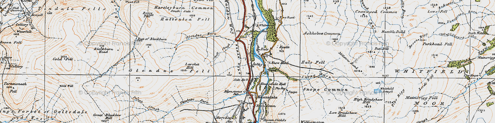 Old map of Whitwham in 1925