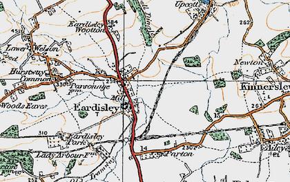 Old map of Eardisley in 1920
