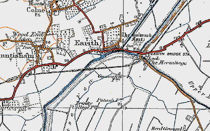 Old map of Earith in 1920