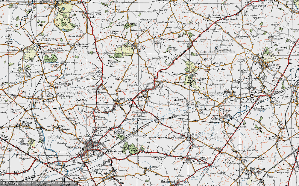 Old Map of Earl Shilton, 1921 in 1921