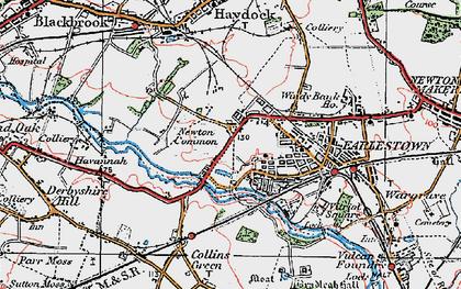 Old map of Earlestown in 1924
