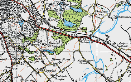Old map of Earley in 1919