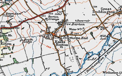 Old map of Earls Barton in 1919
