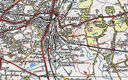 Old map of Earlswood in 1920