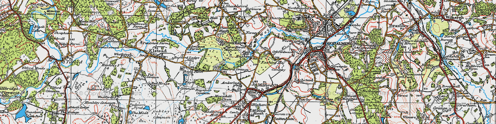 Old map of Eashing in 1920
