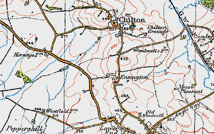 Old map of Easington in 1919