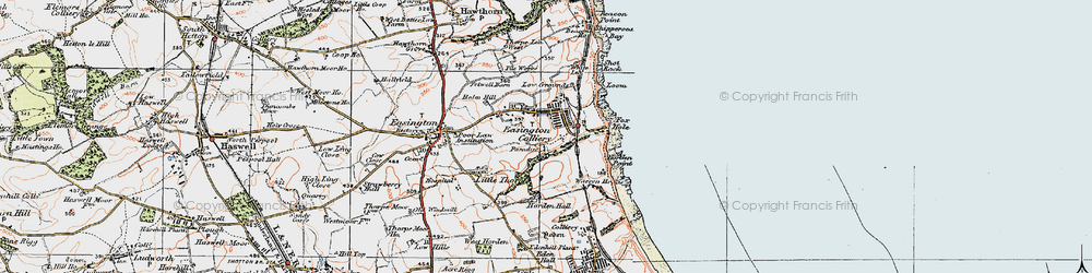 Old map of Easington Colliery in 1925