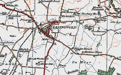 Old map of Easingwold in 1924