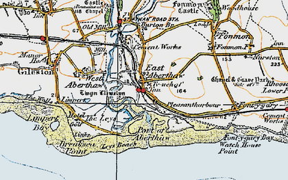 Old map of East Aberthaw in 1922