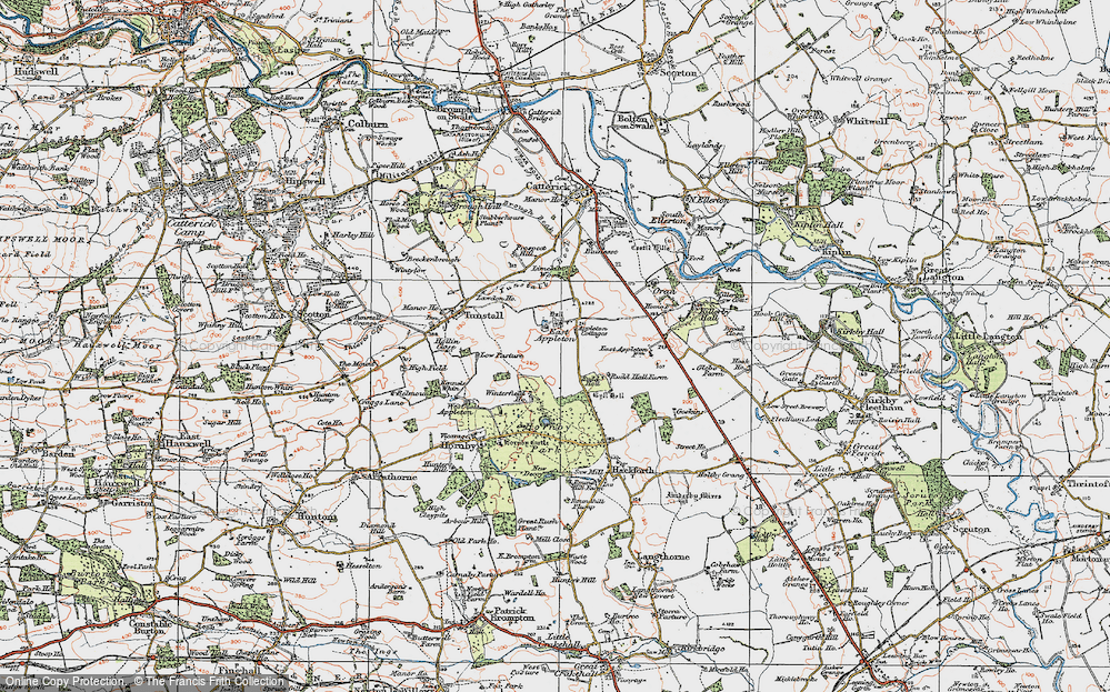Old Map of Historic Map covering Linekiln Wood in 1925