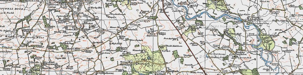 Old map of Winterfield Ho in 1925