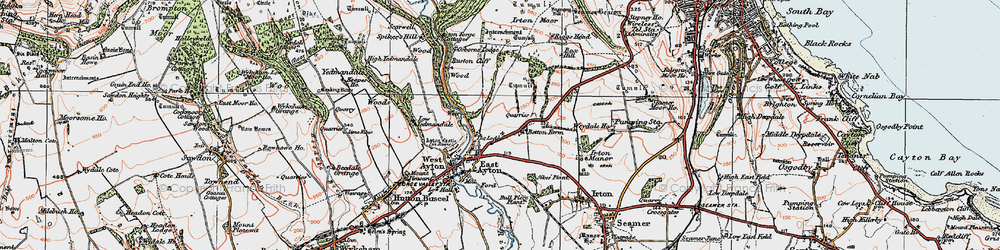 Old map of East Ayton in 1925
