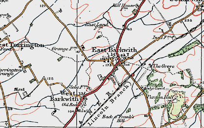 Old map of Back o' Frank's Hill in 1923