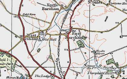 Old map of East Barsham in 1921