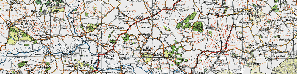 Old map of Ackworth Ho in 1921