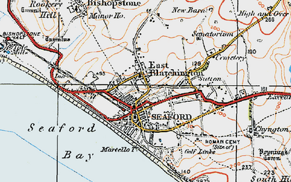 Old map of East Blatchington in 1920