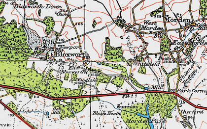 Old map of Woolsbarrow (Fort) in 1919