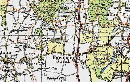 Old map of East Burnham in 1920