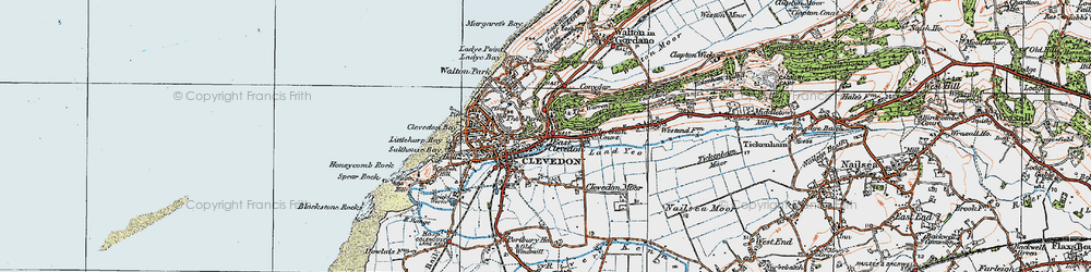 Old map of East Clevedon in 1919