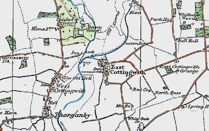 Old map of Wheldrake Ings in 1924