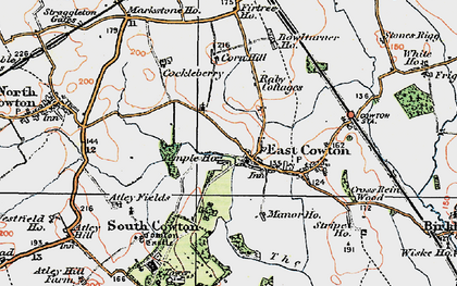 Old map of Atley Fields in 1925
