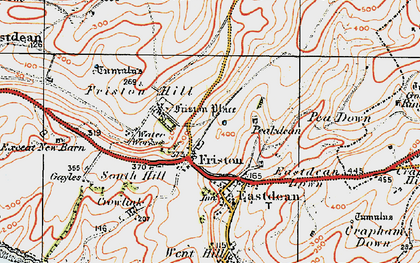 Old map of East Dean in 1920