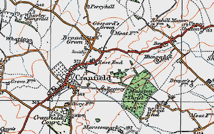 Old map of East End in 1919