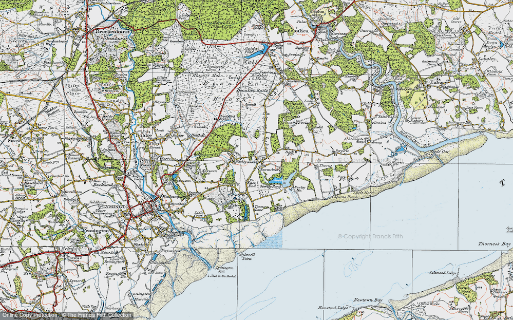 Old Map of Historic Map covering Colgrims in 1919
