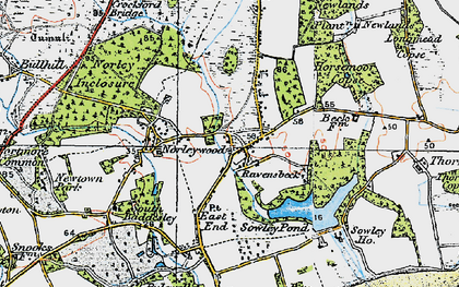 Old map of Colgrims in 1919