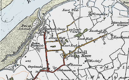 Old map of Tip Head in 1921