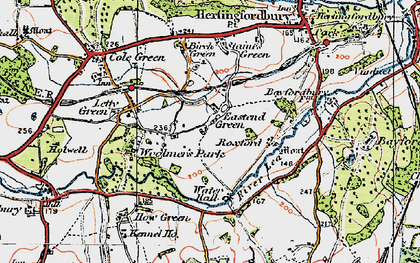 Old map of East End Green in 1919