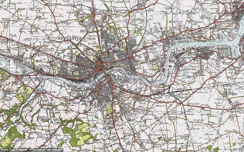 Old Maps of Gateshead Millennium Bridge Francis Frith