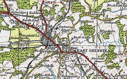 Old map of East Grinstead in 1920