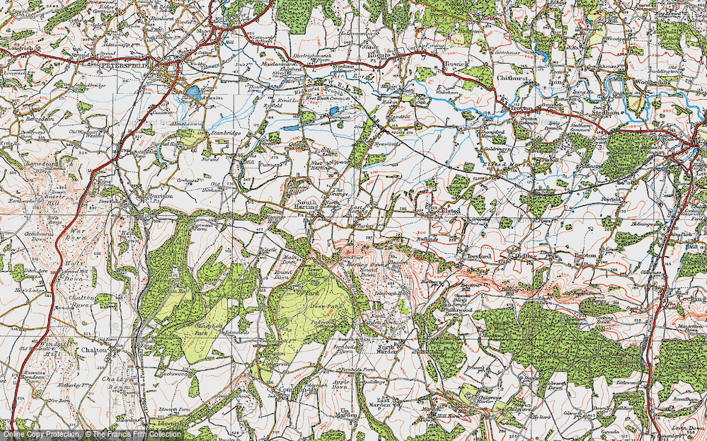 Old Map of East Harting, 1919 in 1919