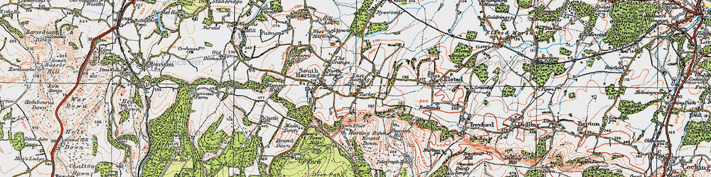 Old map of East Harting in 1919
