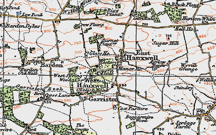 Old map of Ayrlow Banks in 1925