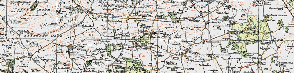 Old map of Willow Gill in 1925
