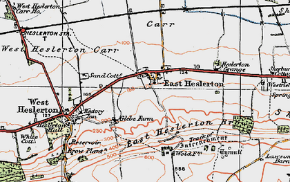 Old map of Westfield Wold in 1925