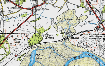 Old map of Wood Bar Looe in 1919