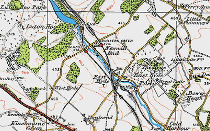Old map of East Hyde in 1920