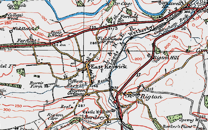 Old map of Wharfe Dale in 1925