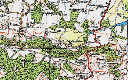 Old map of East Lavington in 1920