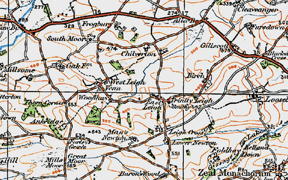 Old map of Leigh Cross in 1919