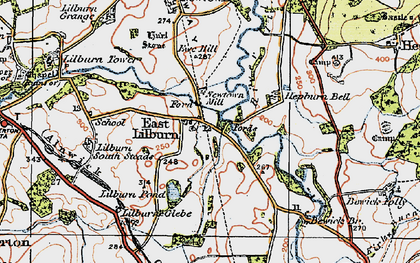 Old map of Lilburn South Steads in 1926