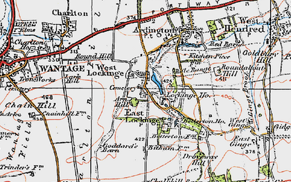 Old map of Lark Hill in 1919
