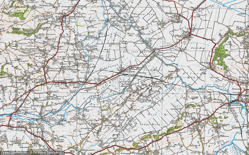 Old Map of East Lyng, 1919 in 1919