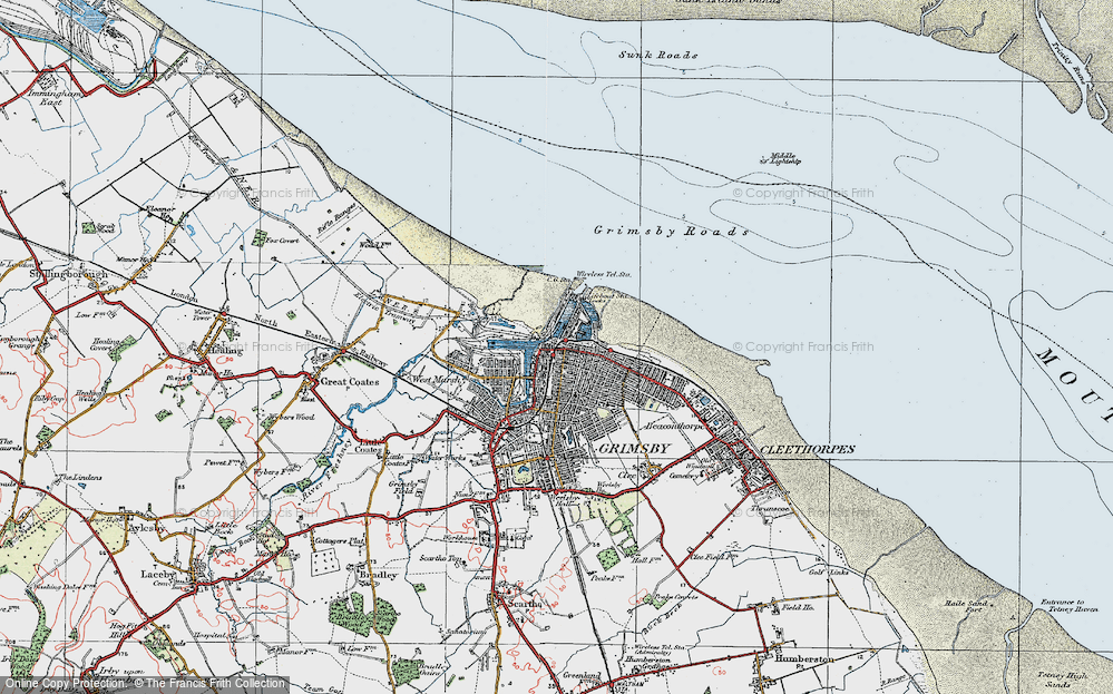 Old Map of East Marsh, 1923 in 1923