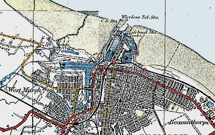 Old map of East Marsh in 1923