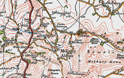 Old map of Zig-Zag Hill in 1919